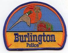 BURLINGTON COLORADO CO very colorful POLICE PATCH