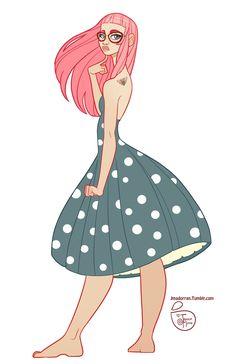 Character Design - Pink Hair by MeoMai.deviantart.com on @DeviantArt