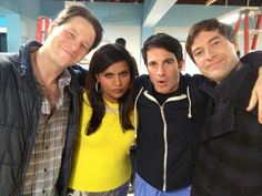 The Mindy Project: Ike Barinholtz, Mindy Kaling, Chris Messina, and Mark Duplass.
