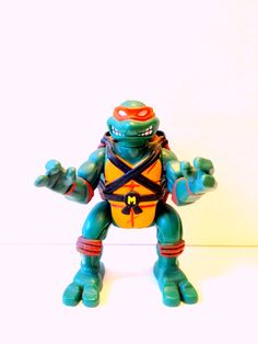 TMNT Teenage Mutant Ninja Turtles Ninja Action Black Belt Boxer Mike Michelangelo Figure  Gods of Vintage now accepting credit card payments and Etsy Gift Cards! Shop now at http://GodsofVintage.etsy.com/ !