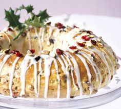 "Traditional German Christmas bread ""Stollen"""