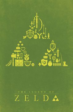 Legend of Zelda Poster. I LOVE how they kept items from different games in a designated section of the triforce The Legend Of Zelda, Legend Of Zelda Poster, Nintendo, Geeks, Starwars, Gaming Posters, Geek Stuff, Diy Stuff, Link Zelda