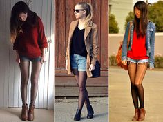 looks: chelsea boots and shorts with tights