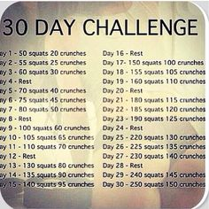 30 day challenge. #fit