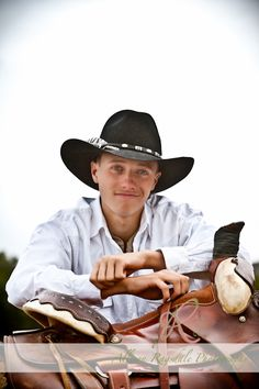 Cowboy Senior Portrait by Allison Ragsdale Photography