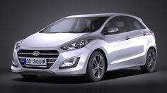 Hyundai i30 5-door 2015 3D Model .max .c4d .obj .3ds .fbx .lwo .stl @3DExport.com by SQUIR @3