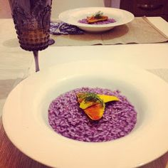 Ziggy in the kitchen: Risotto viola e triglie allo zafferano