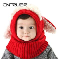 CN-RUBR Baby Hat With Ear Winter Warm Toddler Boys Girls Cap Beanie Crochet  Knitted 0158adcd6308