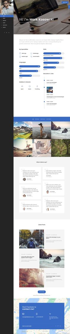 Resume, Portfolio, CV, and vCard template downloads for personal - personal resume websites