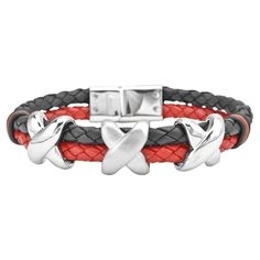(Limited Supply) Click Image Above: Inox Jewelry Men's Red & Black Leather Bracelet With Stainless Steel Cross Stainless Steel Jewelry, 316l Stainless Steel, Bracelets For Men, Fashion Bracelets, Men's Jewelry Store, Jewelry Gifts, Romantic Men, Black Leather Bracelet, Leather Bracelets