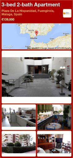 3-bed 2-bath Apartment for Sale in Plaza De La Hispanidad, Fuengirola, Malaga, Spain ►€139,000