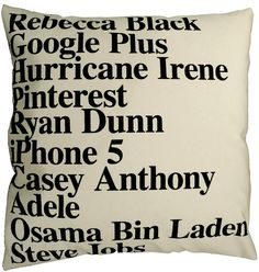 Elodie Blanchard Studio - Top Searches Google Pillow 2011