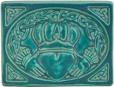 Pewabic Pottery, Detroit, MI. 6x8 Claddagh - maybe for the kitchen above the stove or sink?