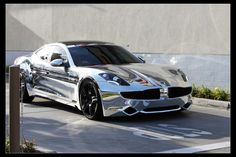 Justin Bieber's Car: Chrome Electric Car – Fisker Karma. I need to steal it off of him! Vin Diesel, My Dream Car, Dream Cars, Justin Bieber, Karma, Celebrity Cars, Celebrity Style, Chrome Cars, Ford