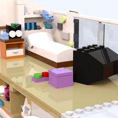 LEGO IDEAS - Steven Universe's Beach House Lego Steven Universe, Lego Beach, Build My Own House, Lego Ideas, Beach House, Living Room, Storage, Projects, Furniture