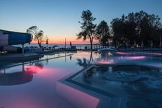 Falkensteiner Premium Camping Zadar is the only camping area in Zadar. Parks, Pool Landscaping, Strand, Vacation, Mansions, Landscape, House Styles, Outdoor Decor, Design