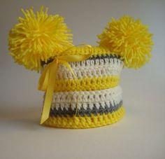 Crochet Hat Beanie for Baby Boy or Baby Girl  by SuperCrochetMom