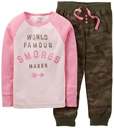 Carters Little Girls' Smores Camo