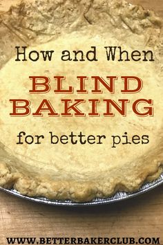 In this Baking Basics Tutorial, you'll learn how and when to blind bake a pie crust. Use this technique for custard pies, fruit tarts, and quiches. This simple technique is perfect for preventing soggy pie crusts! Desserts like coconut cream pie, banana cream pie, chocolate cream pie, and fresh strawberry pie all require a pre-baked pie shell. Follow this easy tutorial and never bake a soggy or doughy pie again. Perfect Pie Crust, Good Pie, Custard Pies, My Favorite Food, Favorite Recipes, Fresh Strawberry Pie, Fruit Tarts, Baking Basics, Tart Shells