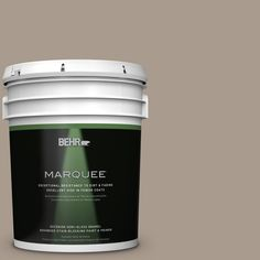 BEHR MARQUEE 5-gal. #N210-4 Espresso Martini Semi-Gloss Enamel Exterior Paint