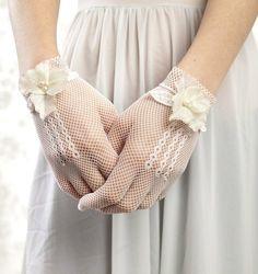 wedding gloves  cute for bridesmaids