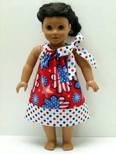 18 inch Doll Clothes American Girl Pillowcase by WendysWhimzies, $10.00