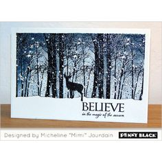 Penny Black Cling Stamp - Snowy Grove - Craft Obsessions