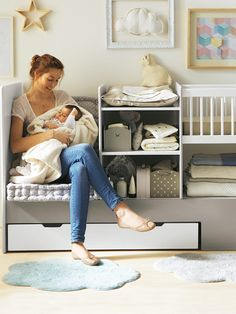 Lit bébé 4 en 1 Evolunid, Chambre Bébé