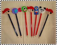 Bumble Bee's Craft Den: Felt Pencil Toppers