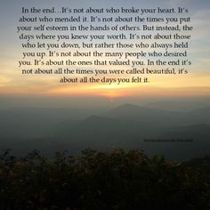 Lessons Learned in Life | In the end, it's all about this.