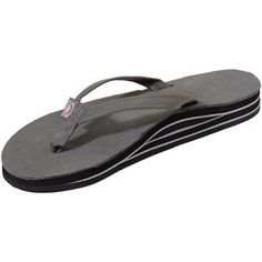 Rainbow Sandals Women Premium Leather Narrow Strap Double Layer $52.95