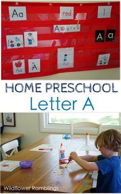 Home Preschool: Letter A - Wildflower Ramblings #preschool