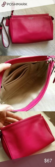 Pink Coach Clutch Wristlet Like new 7.5 inches x 5.5 inches Coach Bags Clutches & Wristlets