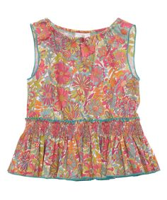 Age 2 to 8 Multicolour Willows Garden Print Boho Top, Liberty London Childrenswear. Shop more from the Liberty London Childrenswear collection online at Liberty.co.uk