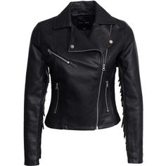 New Look Pu Tassle Biker Jacket