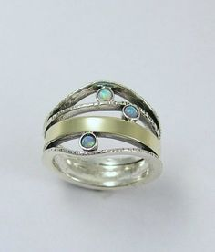 Sterling silver mothers ring with garnet, citrine and blue topaz gemstones - birthstones ring - What makes you smile.