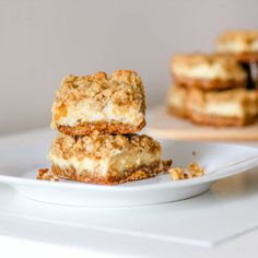 Oatmeal Lemon Cream Bars ~T~ These are so good. She makes them with an oatmeal cookie mix for crust and topping, but also gives a recipe for a homemade oatmeal cookie base which I used and everyone raved about them. I love anything with lemon and sweetened condensed milk.