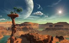 Hunt for Alien Earths: Extrasolar Planet Art Gallery Solar Planet, Alien Planet, Fantasy World, Fantasy Art, Cosmos, No Man's Sky, Alien Worlds, Science Fiction Art, Fantasy Landscape