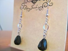 Faceted Black Onyx Earrings...$15
