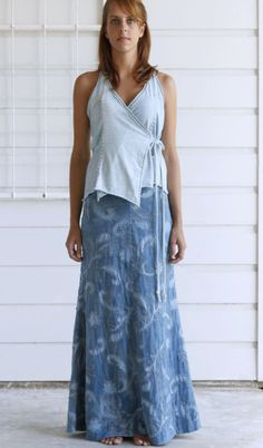Paisley Long Skirt and wrap top -- alabama chain (love both these pieces)