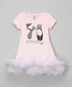 Another great find on #zulily! Pink Ballet Personalized Tutu Dress - Infant, Toddler & Girls #zulilyfinds