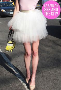 You can get now the same tutu that Sarah Jessica Parker AKA Carrie Bradshaw wore in Sex and The City TV series, because legendary SACT costume designer Patricia Field just released a new collection! Sizes: S-L, Prize: $140