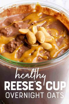 A classic flavor combination comes together to make these Chocolate Peanut Butter Overnight Oats a decadent and rich treat for breakfast. Mix up these oats for meal prep to make breakfast super simple and satisfying! #chocolatepeanutbutter #overnightoatmeal Chocolate Overnight Oats, Peanut Butter Overnight Oats, Vegan Overnight Oats, Peanut Butter Roll, Chocolate Peanut Butter, Natural Peanut Butter, Healthy Breakfast Smoothies, Breakfast Recipes, Breakfast Club