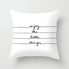 Little Things Throw Pillow by Mareike Böhmer Graphics - $20.00