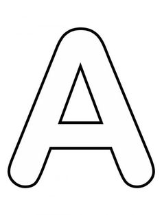 Alphabet Letters To Print, Alphabet Letter Templates, Alphabet Writing, Tracing Letters, Alphabet Book, Alphabet Worksheets, Alphabet And Numbers, Wood Letters, Stencil Lettering