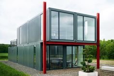 Koma Modular's Live-Work Store in Lüneburg, Germany is Made from Recycled Shipping Containers