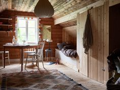 Scandinavian Cottage, Red Cottage, Compact Living, Wooden House, Decoration, Perfect Place, Sweet Home, House Ideas, Loft