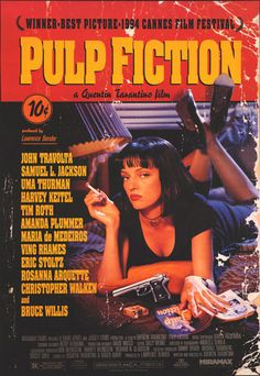 Just finished watching Pulp Fiction for the first time ever today. Not sure how I feel about it yet. Definitely a good movie, but maybe a little too weird/scattered for my taste. Very funny though. Had no idea that that was what Pulp Fiction was about, but then again, I'm not sure what I was expecting because, after all, it was directed by Tarantino.