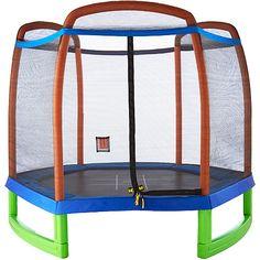 Pure Fun Kids' 7-Foot Enclosed Trampoline Set