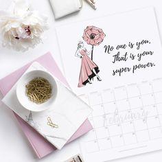 Free printable download february 2018 calendar planner